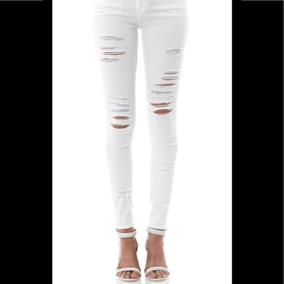 Frame Denim Le Skinny de Jeanne white size 25